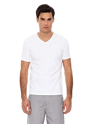 Springfield Camiseta Pico Lycra (Blanco)