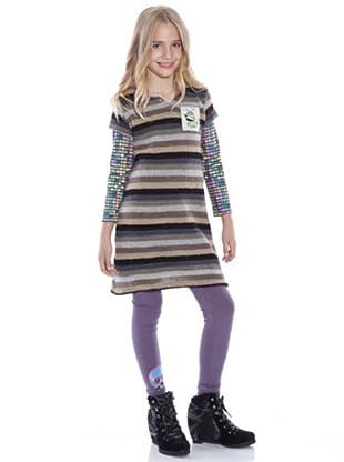 Custo Growing Kleid Kariang (Mehrfarbig)