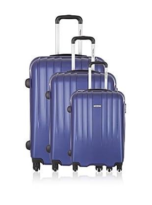Travel ONE Set de 3 trolleys rígidos Warrington Azul