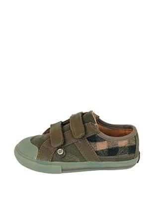 Za-patitos Zapatillas Cuadros Velcro (Marrón)