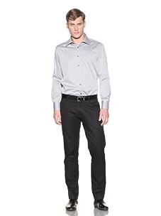 Valentino Men's Dress Shirt (Black/White Stripe)