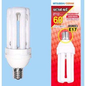 【クリックで詳細表示】三菱 電球形蛍光ランプ 《ルピカボールE》 D形(グローブレスタイプ) 60W形 3波長形電球色 E17口金 EFD15EL/12-E17