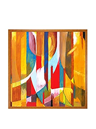 Clive Watts Orange Sided Framed Print On Canvas, Multi, 25.5