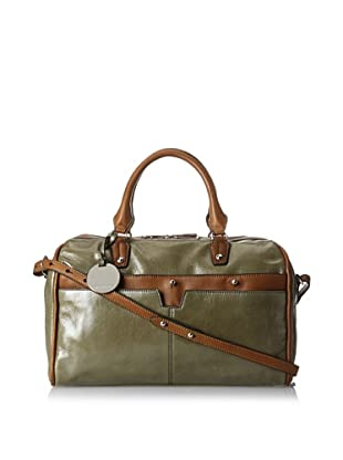Hayden Harnett Women's Pierre Satchel, Charcoal/Luggage
