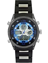 Maxima Ego Analog-Digital Black Dial Men's Watch - E-35051PAAN