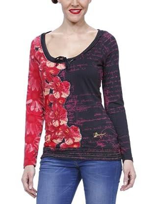 Desigual Camiseta 27T2538 (Rojo)