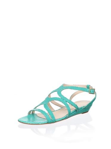 Claudia Ciuti Women's Amore Flat Sandal (Green)