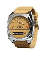 Martian Watches Victory Smart Watch (Tan/Silver/Tan)