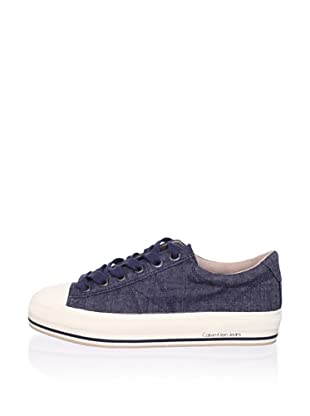 Calvin Klein Jeans Women's Gessie Low-Top Sneaker (Dark Blue)