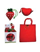 DCI EZ Bags Fresh Fruit Reusable Bag and Pouch, Assorted Strawberry and Watermelon