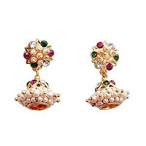 Jewbang Gold-Plated Jhumki Earring For Women-JB894