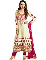 Georgette Embroidered Stylish Suit