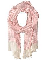 Saro Lifestyle Women's Striped Design Scarf, Pink, One Size