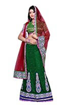 Surupta Green Coloured Self Design Women's Lehenga Choli