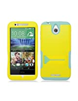 Aimo Wireless Hybrid Case with Stand for HTC Desire 510 - Retail Packaging - Yellow/Lime