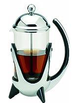 G&H Tea Services 6-Cup Shanghai West Tea and Coffee Press Pot, Chrome