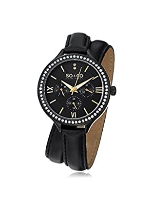 SO&CO New York Madison Metal Watch, Black