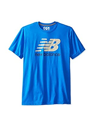 New Balance Men's Large Graphic Logo Tee (Cobalt)