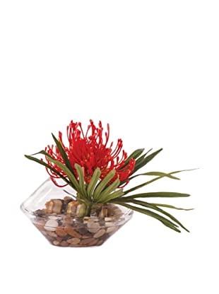 Lux-Art Silks Pincushion Flower Waterlike, Orange