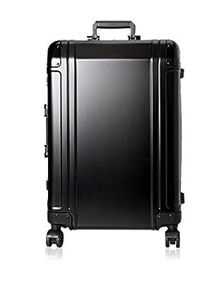 Zero Halliburton Geo Aluminum 24 Inch 4 Wheel Spinner Travel Case, Black