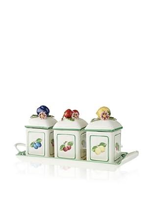 Villeroy & Boch Marmeladendosen-Set mit Tablett French Garden Charm 3-tlg.