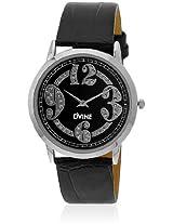 DD8076BK01 Black/Black Analog Watch Dvine