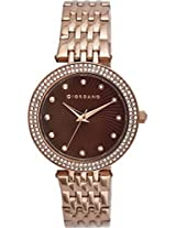 Giordano Analog Brown Dial Women's Watch - 2737-66