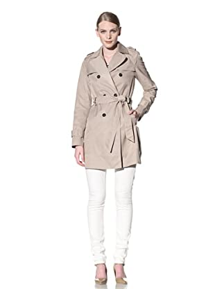 Tommy Hilfiger Women's Emma Classic Spring Notch Belted Trench Coat (Sand)