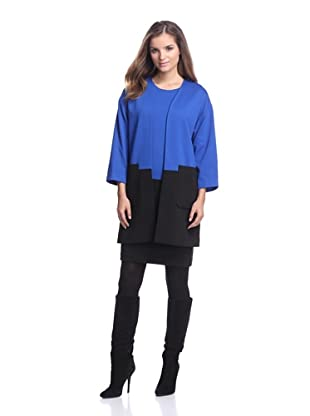 Calvin Klein Women's Colorblock Open Jacket (Celestial)