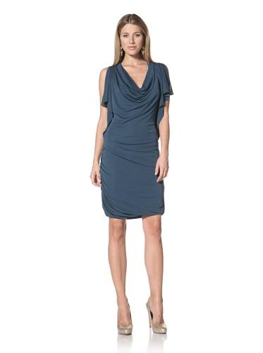 Halston Heritage Women's Slit Sleeve Dress (Dark Teal)