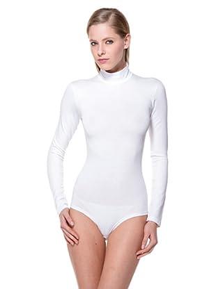 Cotonella Body Manga Larga Cuello Alto (blanco)
