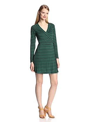 Tart Women's Marie Dress (Emerald Charcoal Stripe)