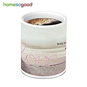 HomeSoGood Great Woolen Patience Heart Love Coffee Mug