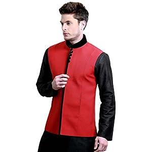 Bharat Plaza Aristocratic Nehru Jacket - Red