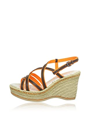 Replay Keil-Sandalette Wiley (Dunkelbraun/Orange)