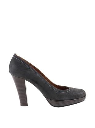 Liberitae Zapatos tacón Plataforma (Gris)