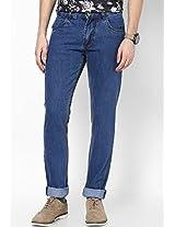 Blue Color Slim Fit Jeans Phosphorus