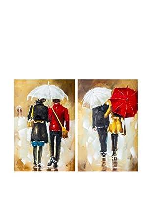 ENCUENTRA TU ESTILO Leinwandbild 2 er Set Umbrella