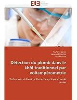 Detection Du Plomb Dans Le Khol Traditionnel Par Voltamperometrie