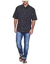 Very Me Men's Casual Shirt_1133_Black and White_48