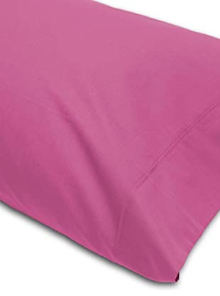 Abecé Funda de almohada Lisa (Fucsia)