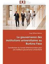 La Gouvernance Des Institutions Universitaires Au Burkina Faso (Omn.Univ.Europ.)