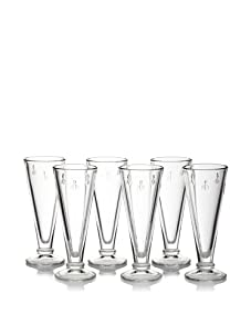 La Rochère Set of 6 Bee Décor Champagne Flutes