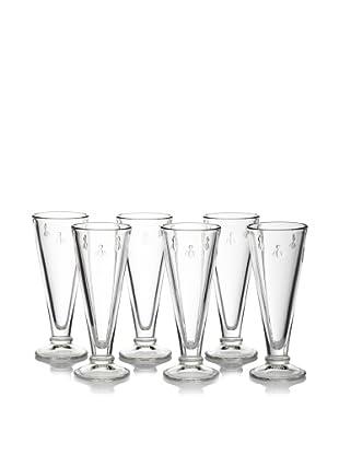 La Rochère Set of 6 Bee Décor 5.5-Oz. Champagne Flutes