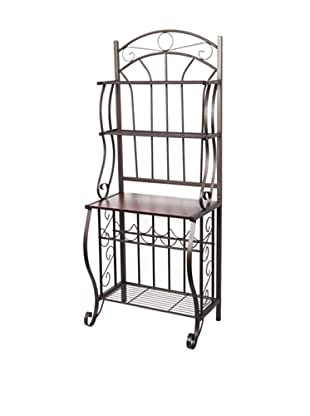 Old Dutch Baker's Rack with Wine Rack, RTA (Copper)