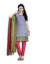 Krisha Print Women's Unstitched Dress Material (Free Size)