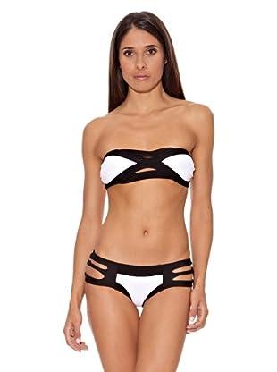 Intimax Bikini Abertura (Blanco / Negro)