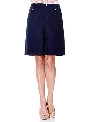 Cortefiel Falda Pliegue (Azul Marino)
