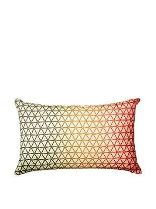 Nitin Goyal London Ombré Geo Silk Lumbar Pillow