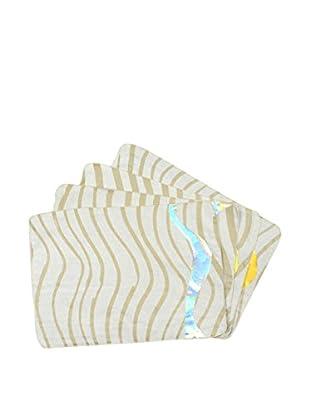 Aviva Stanoff Set of 4 Placemats, Gold/White